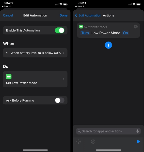 Low Power Mode Automation